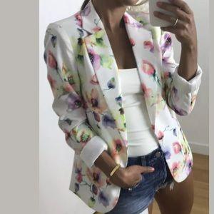 🆕 ARK & CO Floral Blazer Watercolor Spring Jacket